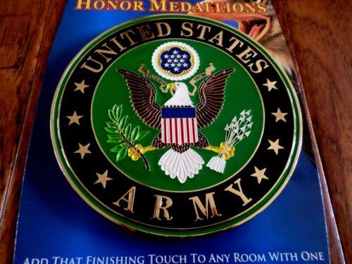 "U.S ARMY METAL MEDALLION ENAMEL SHADOW BOX PRESENTATION EMBLEM PLAQUE 4"" X 4"""