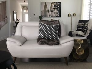 Leather Loveseat, Like New!  And Accessories