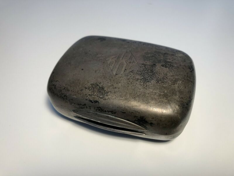 Sterling Silver Soap Box 98.33 Grams Engraved Initials RKB, MAKE OFFER