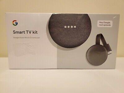 BRAND NEW & SEALED Smart TV Kit: Google Home Mini and Chromecast Free Ship!