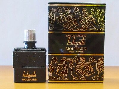 Vintage Habanita De Molinard Perfume Women 7,5 ml Eau De Toilette Splash Mini  5ml Eau De Toilette Splash