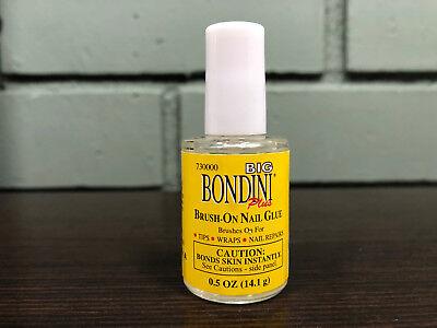 Big Bondini Brush On Nail Glue 0.5oz - NEW & FRESH - Fast Free Shipping!