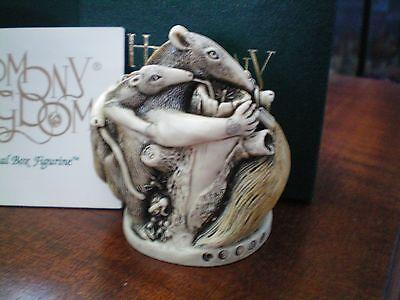 Harmony Kingdom Antipasto Ant Eaters UK Made Marble Resin Box Figurine NIB