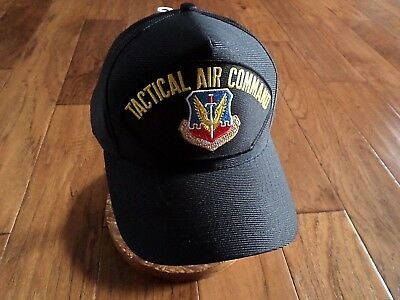 U.S AIR FORCE TAC MILITARY HAT OFFICIAL BALL CAP TACTICAL AIR COMMAND U.S.A MADE Command Military Hat