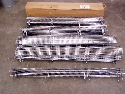 """wire stopper 3/"""" x 48/"""" Chrome Front Fencing for Lozier or Madix display shelving"""