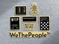 "NEW 2 x We The People BMX Frame Stickers 8/"" White /& Clear Sticker Decals WTP"