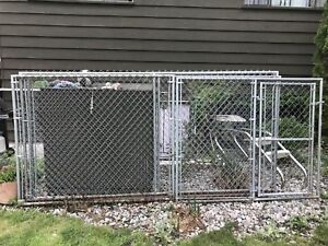 Chain link fencing with gate