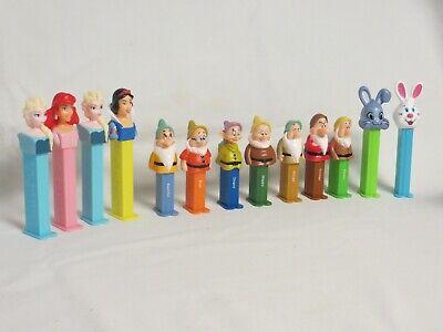 PEZ lot Disney Princess Snow White 7 Dwarves Little Mermaid Ariel Elsa Frozen