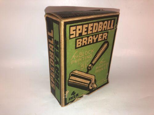 "Vintage SpeedBall Brayer No. 51 Block Printing 4"" Roller Original Box"