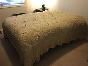 Gorgeous crocheted bedspread