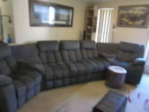 7 piece 3 recliner home theater set
