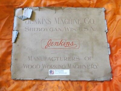 Jenkins Machine Co Sheboygan Wis Usa Catalog Vintage Brochure Woodworking