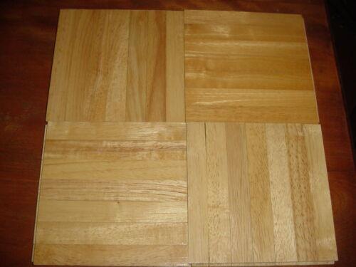 "40 Oak Grain Parquet Hardwood Tiles  6""x 6""  X 5/16""  Wood Flooring 10 sq ft"