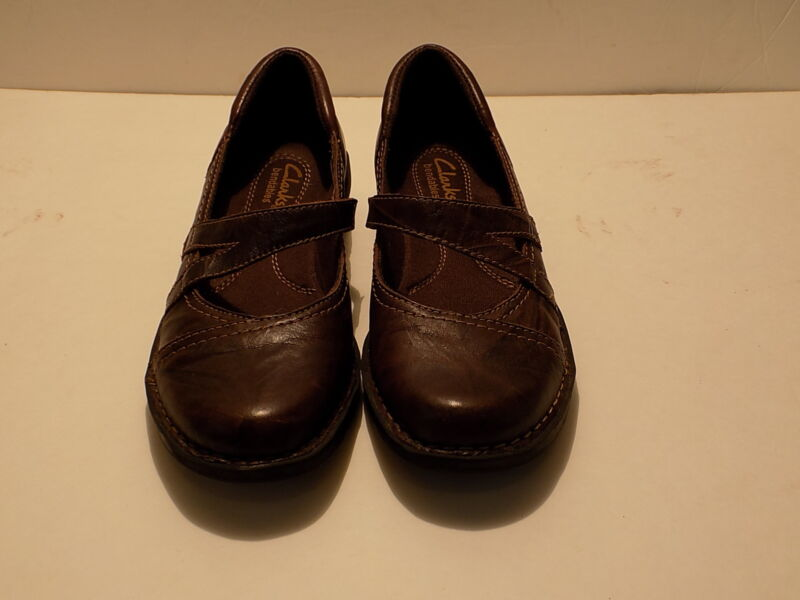 Women's Clarks Bendables 39239 Brown Leather Mary Janes US Size 6 M