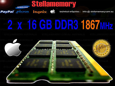 Late 2015 Apple iMac memory 32GB upgrade 2 x 16gb kit.