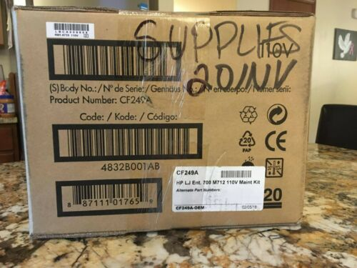 ORM FACTORY SEALED HP LaserJet 110V Maintenance/Fuser Kit CF249A