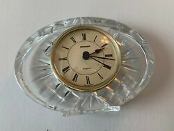 STAIGER (Germany) Oval Crystal Table  Clock, Quartz Analog