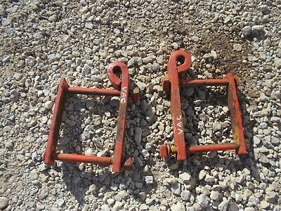 Case Vac Tractor Original Case Rear Cultivator Mounting Brackets Set Bolts