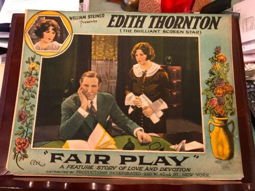 Fair Play 1925 Steiner silent lobby card Edith Thornton Lou Tellegen