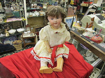 ARMAND MARSEILLE A10M 390 Antique Bisque Doll Germany Sleepy NICE HUGE