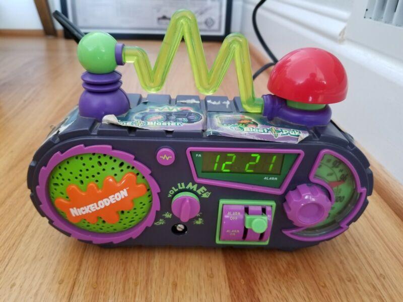 Vintage Nickelodeon Time Blaster Rise Slime Alarm Clock Radio 1995 TESTED WORKS!