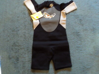 NO FEAR BOYS UNISEX BLACK 7-8 YEARS SHORTY WETSUIT NEW