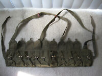 ORIGINAL SURPLUS CHINESE MILITARY TYPE 56 SEMI AMMO CHEST-RIG BANDOLIER POUCH
