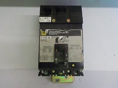 Square D Circuit Breaker Box 600 V 3 Pole Fh36100