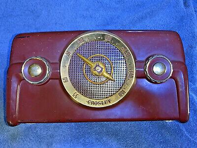 Usado, Laboral 594ms Era Crosley Am Radio Modelo 10-138 Marrón Baquelita segunda mano  Embacar hacia Spain