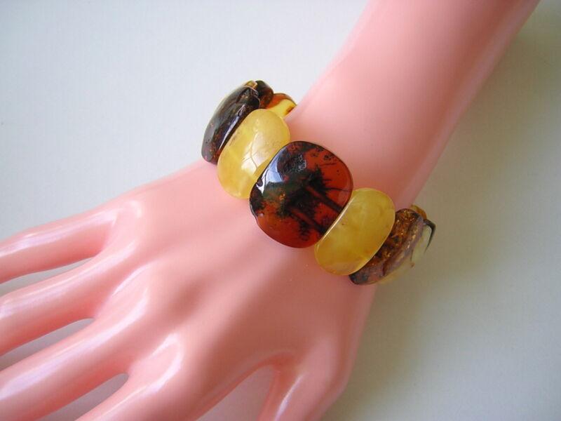 Nature Amber Bracelet Butterscotch Honey Cognac 0.7oz Genuine Amber