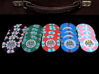 POKER CHIP SET Cash Game 1/2 NO LIMIT Texas Hold Em 2/5 or 5/10 DUNES CASINO