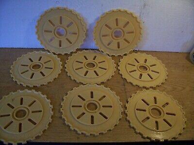 8 Plastic Lustran Ih Planter Plates C90-24 Tan Lot G