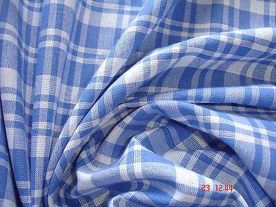 0,5 Laufmeter Baumwolle 2,93€/m² kariert blau, weiß FB90