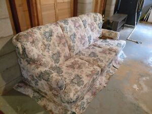 Floral Couch and Armchair set