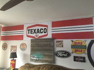 Gas signs texaco and imperial