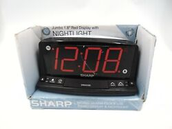 SHARP Alarm Clock with Jumbo Display & Nightlight Jumbo Red LED Display