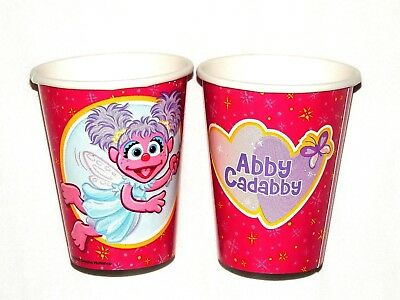 ~ABBY CADABBY ~ 8-  PAPER CUPS  9 FL. OZ.  BIRTHDAY-CHILD  - PARTY -