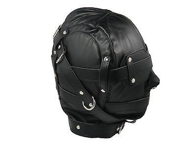 Isolationsmaske Ledermaske mit Augenbinde Maske schwarz Art.Nr. 658