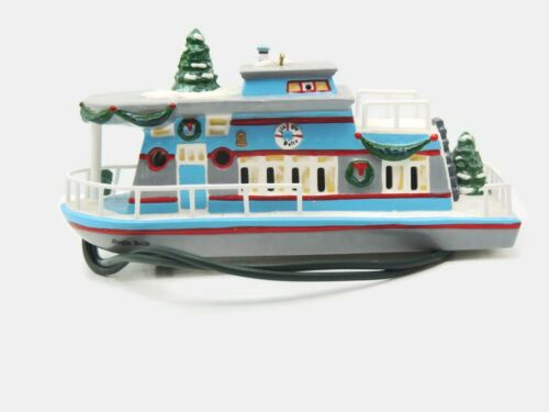 Dept 56 Snow Village Jingle Belle Houseboat Lighted Ornament Nautical 98648