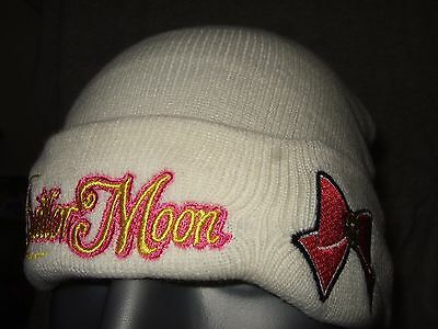 Cute Nwt Adult Ivory Sailor Moon Red Ribbon Bow Watchman Beanie Hat Toei Anime ()