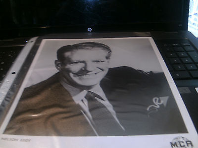 Set Of 2 8 X10 Black & White Nelson Eddy Photos From the 1940s-WOW!!!!!!!!!!!!!!