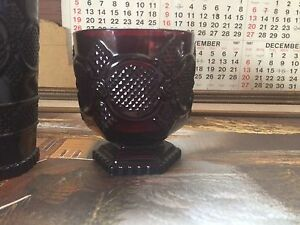 Rarer Avon Ruby Red Cape Cod drinking glasses