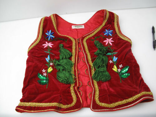 Vintage Made Especially for you folklore Kids Vest Stitch Embroided Polish ?