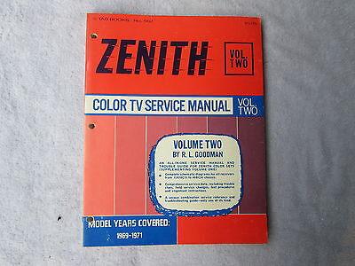 Zenith Color TV Service Manual - Robert Goodman     Box - - Color Tv Service Manual