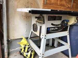 Delta table saw with Wheels