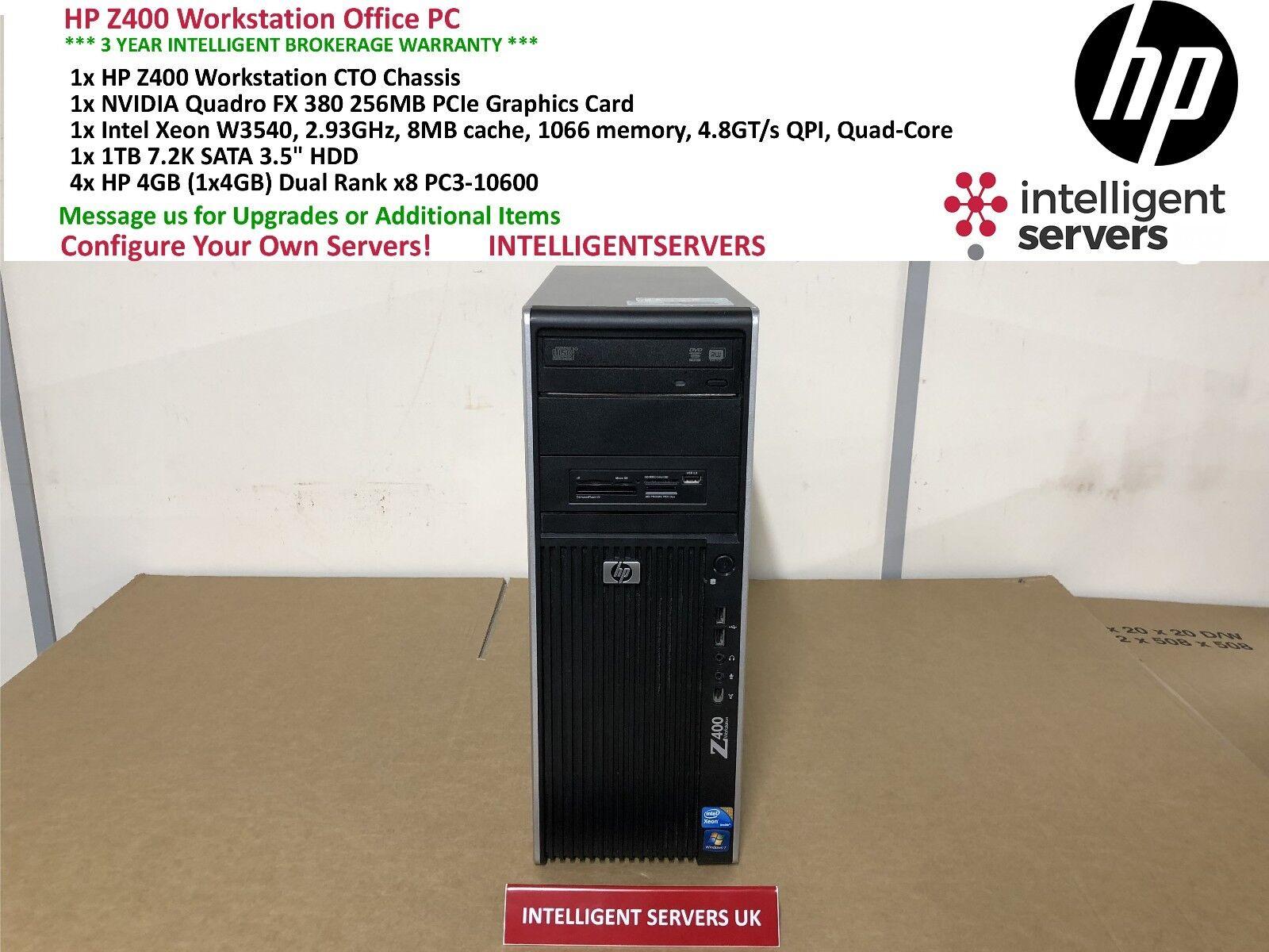 Hp Z400 Workstation Configuration