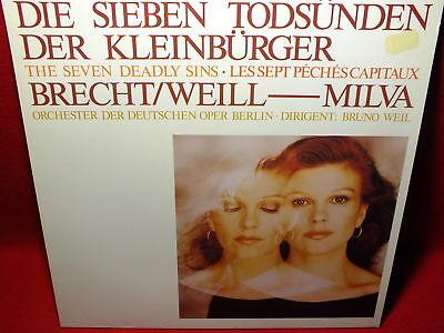 MILVA Die sieben Todsünden Der Kleinbürger BRECHT / WEILL Dtsch. Oper Berlin LP
