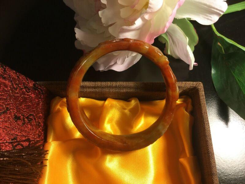 Antique red jade bangle bracelet