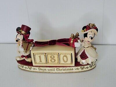 "Disney ""Days Until Christmas"" Porcelain Countdown Calendar Mickey Minnie Mouse"