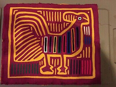 Vintage Mola Rooster Chicken Design By Kuna Cuna Indians San Blas Islands Panama